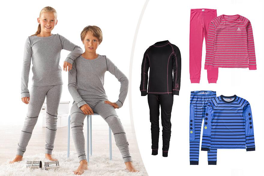 Дети одетые в термобелье